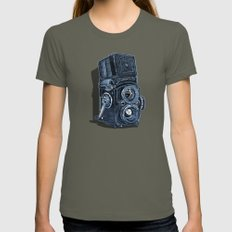 Rolleiflex - vintage film camera Womens Fitted Tee Lieutenant SMALL