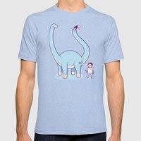 A new friend Mens Fitted Tee Tri-Blue SMALL