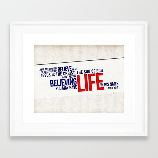 Life in His Name Framed Art Print
