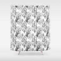 Jamaican Botanicals - Bl… Shower Curtain