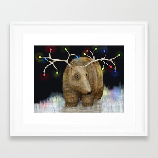 Glow me the Way : Christmas Lights Framed Art Print