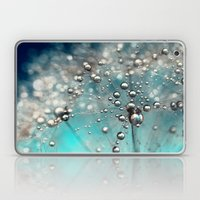 Ocean Blue  and White Dandy Drops Laptop & iPad Skin