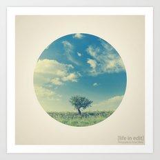 Circular Tree Art Print