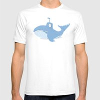 Whale Sub Mens Fitted Tee White SMALL