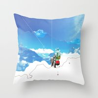 Experiment am Berg 35 Throw Pillow