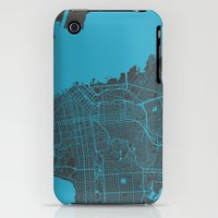 iPhone 3Gs & iPhone 3G Cases featuring San Francisco by Map Map Maps