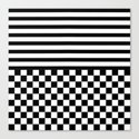 Stripes and Squares Canvas Print