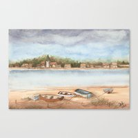 Boats on the Sand Canvas Print