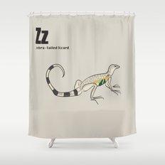 zebra-tailed lizard Shower Curtain