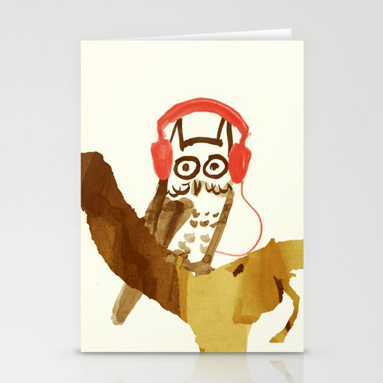 Forest Beats Stationery Card
