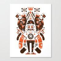 Newfren Monsters Canvas Print