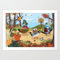 Bird Band Art Print