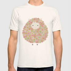 Flowery Sheep Mens Fitted Tee Natural SMALL