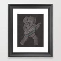 Trunk Rock Framed Art Print