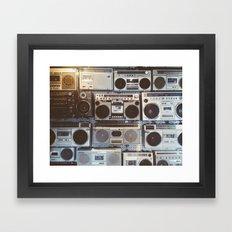 Boom Boxes Framed Art Print