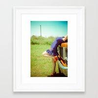 Pin-Up. Framed Art Print