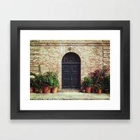 Courtyard Door Framed Art Print