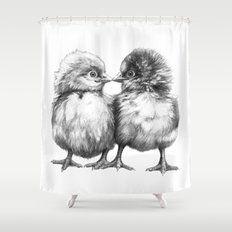 Baby Chicks - Little Kiss G133 Shower Curtain