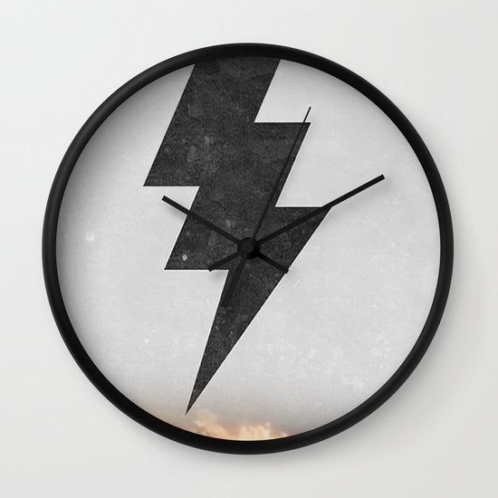 lightning strike Wall Clock