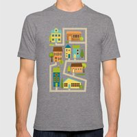 Neighborhood Mens Fitted Tee Tri-Grey SMALL