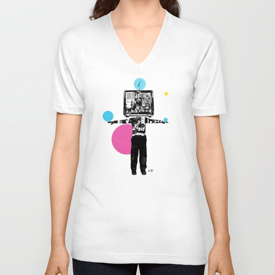 Electric Kid Collage V-neck T-shirt