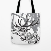Elk Black Tote Bag