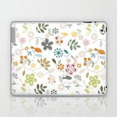 birds n flowers V1 Laptop & iPad Skin