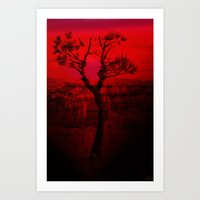 Red Chasm Art Print