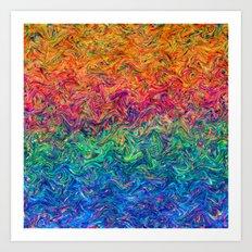 Fluid Colors G249 Art Print