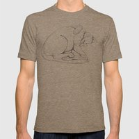 Cat II   /  Chat II   / … Mens Fitted Tee Tri-Coffee SMALL