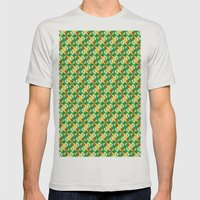 Pattern Mens Fitted Tee Silver SMALL