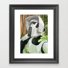 Scout Trooper Framed Art Print
