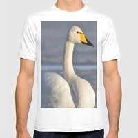 Whooper Swan Mens Fitted Tee White SMALL