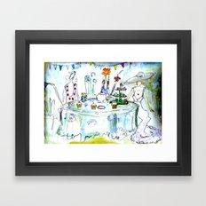 The Tea Party Framed Art Print