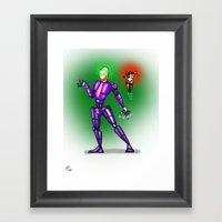 Robot Series - Joker & H… Framed Art Print