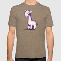 Purple Giraffe Mens Fitted Tee Tri-Coffee SMALL