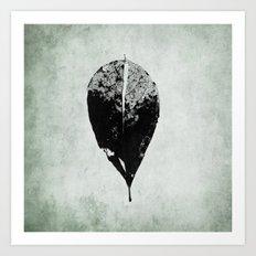 leaf skeleton Art Print