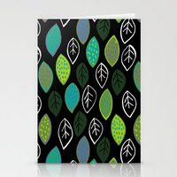 Modern Abstract Leaf Pat… Stationery Cards