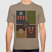 The Mighty Avengers Mens Fitted Tee Tri-Coffee SMALL