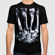 Hand Bones Black SMALL Mens Fitted Tee