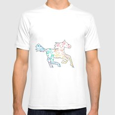 Horse SMALL Mens Fitted Tee White