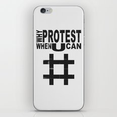 Why Protest When You Can… iPhone & iPod Skin