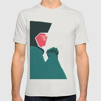 Untitled Digital Drawing Mens Fitted Tee Silver SMALL