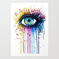"rainbow Art Prints featuring ""Rainbow Eye"" by PeeGeeArts"