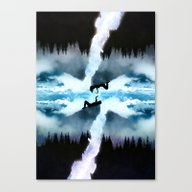 Two Worlds One Heart Canvas Print