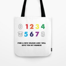 Find a new colour and I'll give you my number Tote Bag