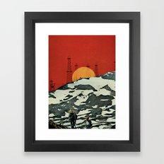 Sunset over Tibet Framed Art Print