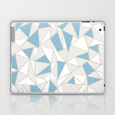 Ab Nude Lines with Blue Blocks Laptop & iPad Skin