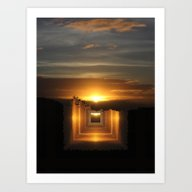 Art Print featuring Catch A Little Sunrise A… by Donuts