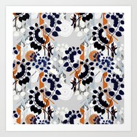 Collage pattern I  Art Print